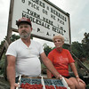 Al and Sharon Smith are suffering from a pretty bad year for their crops of peaches and berries just south of Pittsburg. Al said his entire crop is going to Dallas for grocery and Farmer's Market sales instead to the general public from his roadside stand. Chris Matula photo.