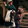 "Carol Hanscom as Georgette and Michael Surabian as Alain argue in ""The School for Wives."" Chris Matula photo."