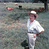 Mrs. Clements and some of her cows.<br /> Lester Phipps, Jr.