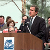 Gov. George W. Bush speaks at opening of Texas Freshwater Fisheries Center in Athens.  Lester Phipps, Jr.