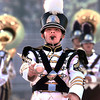 Drum Major Brandon Mitchum leads the Pittsburg High School Marching Band through their presentation during the  University Interscholastic League 3A  marching contest Wednesday morning at White Oak High School stadium.  Over 20 bands in the 3A division competed in the regional competition.  Lester Phipps, Jr.