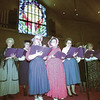 "LADIES FROM THE ELMIRA CHAPEL CUMBERLAND PRESBYTERIAN CHURCH SING ""WHEN WE ALL GET TO HEAVEN"" DURING THE MORNING WORSHIP SERVICE SUNDAY IN LONGVIEW. THE CHURCH IS CELEBRATING ONE HUNDRED YEARS OF MINISTRY IN LONGVIEW. BY KEVIN GREEN"