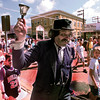 PROFESSOR HYRUM P. HEDGETHICKET (THE MEDICINE MAN) WALKS THROUGH DOWNTOWN SATURDAY MORNING IN LONGVIEW. BY KEVIN GREEN