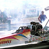 Russell Racing during a burn out at Hallsville Raceway recently. Kevin Green