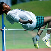 LHS's Jameka Carr clears the high jump bar in practice Tuesday. Matula photo.