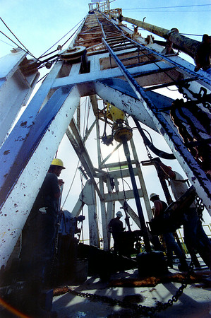 Drilling well in Beckville. Kevin Green