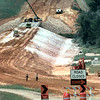 Workers construct a bridge on  FM 852 over what will be Gilmer Lake Tuesday afternoon outside of Gilmer. Kevin Green