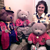 Tammy Simmons with her bears at her home on 10th St., in Longview. Kevin Green