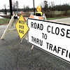 This road closed sign is located at River Road and Texas highway 42 outside of White Oak at the Sabine River. The road has been closed to thru traffic for the past several days do to flooding of the Sabine. Kevin Green