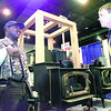 Lee Williams left, of Longview talks with Troy Dassonville from A/C Contractors about wood burning stoves Friday night at the home show at Maude Cobb in Longview. Kevin Green