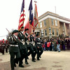 Longview ROTC march during Mardi Gras parade in Jefferson  1997. Kevin Green