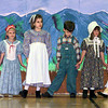 Youngsters at the Longview Church of Jesus Christ of Latter Day Saints prepare for their Pioneer Sesquicentennial show. (l-r) Rhianna Wagster-4, Julie Lanham-6, Elise Wagster-8, Braden Wagster-6, Emily Hansen-6 and Valerie Braun-6. Matula photo.