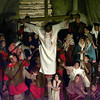 """Bill Hatfield portrays Christ in his suffering in Cavalry Christian Tabernacle's production of """"Is Hell Real?"""" Matula photo."""