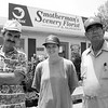 Smotherman's Scenery, Inc. tied for best nursery. (l-r) Owner Mike Smotherman, mgr. Dana Hill and mgr. Jack Lewis. Matula photo.