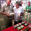 Bill and Gloria Jones, of Tatum, look at some of the masonry products that will be produced at Tatum Industries Plant along 149 outside of Tatum, Wednesday morning. Kevin Green