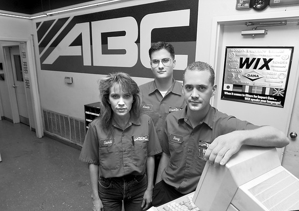 ABC Auto Parts was named best of ET with employees like Sandi Henderson, Kevin White and Barry Caffey. Matula photo.