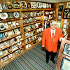 Larry Osborne, stands in one of two rooms which he has several items, he has collected and put in his literary museum at his home in Gilmer. Kevin Green