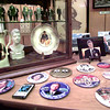 Some of his collection of Presidental items, buttons, postcards, photos, and minatures. Kevin Green