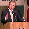Gov. George W. Bush speaks to a crowd at the signing of the UT Tyler Downward exspansion bill in Tyler Friday afternoon. Kevin Green