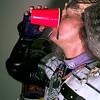 Roger Buck cooling down after demonstrating Klingon weapons. Obie LeBlanc.