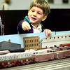 Johnathan McNeely the four year old son of Darren and Cindy McNeely watches the trains during the train show at the fairgrounds Saturday afternoon in Longview. Kevin Green