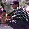 Tiger Woods prepares to put during the Byron Nelson Classic Friday afternoon in Irving. Kevin Green