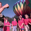 Barry Hanson, left, the creative services director for KLTV in Tyler gives last minute directions to the Great Texas Balloon Race Committee during the taping of a Good Morning America promo Wednesday afternoon at Ingram Park in Longview. Kevin Green