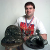 Craig Bowen with more trophies and medals. Kevin Green photo.