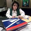 Karen Anderson at the New Diana post office. Matula photo.