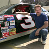 Jim Pinkston and his NASCAR replica. Kevin Green