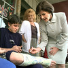 FIRST LADY BUSH SIGNS CAST