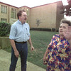Date:   8/17/98  Kevin Verney, West Rusk County Consolidated I.S.D. board member, is confronted by Norma Sowell outside West Rusk Elementary School, where Sowell had attended a parent/teacher night. Sowell asked Verney why he took his children out of the school and put them in Henderson I.S.D. Verney is concerned about the safety at some West Rusk schools after construction work was done. Bahram Mark Sobhani