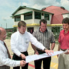 Date:   8/18/98----Left to Right---Gary Miller, Kirk Lanier, Kelly Saxton, and Tom Eberhart, look over plans for a new restaurant at Judson and Loop 281 Tuesday afternoon in Longview. Kevin green