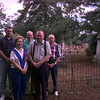 Date:   7/17/97---(back row, left to right) Eddie Sammons Jr., Dan Lucy, and Evans Burton. (front row, left to right) Polly Cocke and Thomas Adams. These are the people that showed up for the cemetery reunion Friday morning at Elderville Cemetery.  Jessica Williamson
