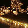 12/09/98---Lights light the driveway, trees and house at 1614 Clarendon Drive.