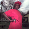 12/31/98---Daisy Carey stands outside her home on Timpson St. At 82 years old, Carey is still active in fighting crime in Longview.