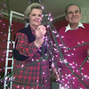 12/22/98---Ferne and Jack Parker hold one of many lit stars they make in their workshop in Kilgore. The Parkers mad the stars hanging in the trees at the County Courthouse. bahram mark sobhani
