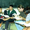Shaunta Searcy, left to right, Nathan Tave, Ron Cardwell, and Tekisha Goodwin, right, duirng Algebra class at Jarvis Christian College in Hawkins. Glenn Evans