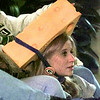 """Tiffany Walters wearing her """"Cheesehead"""" as she watches the Pack beat the 49ers. Obie LeBlanc"""