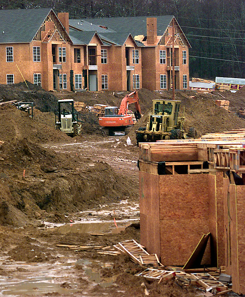 The heavy rains this past week has slowed construction of apartments at H. G. Mosley and Bill Owens in Longview. Kevin green