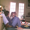 Left to Right---on sofa--Bridgety Ortigo, Leah Killingsworth, Emily Cochener, on Floor--- Meagan Fiengo, Tiffany Walters, and Jamie Hogg enjoy the Packers game against the 49ers at Tiffany's home in Longview. Obie Leblanc