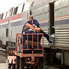 J. G. Hubbard, Station Agent for  Longview Amtrak unloads bagage at the depot Wednesday afternoon in Longview.Kevin green