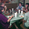 Date:   7/15/98---Left to right, Holly Williams, David Hutchins, Casey Hathaway, Luke McClelland and Melissa Parsons, all of Gilmer, enjoy a lunch at Pizza King in Longview Wednesday afternoon. The establishment has been serving Longview since 1965.  Jessica Williamson