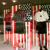Date:   7/1/98---Bealls award winning July the fourth window on the Gilmer downtown square. Kevin green