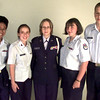 Date:   7/28/98---Left to Right---Tong Utakrit-airman 1st  class, Mindy Wigg-SGT., Emily Caton-Master Sgt. and Cadet Commander, Elexxa Adams-Staff Sgt., and Mike Spyhalski-airman 1st class and 1st Sgt.,. Kevin green
