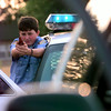 Date:   6/23/98---Justin Marshburn,15, a LPD explore during a felony traffic stop training. Kevin green