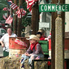 Date:   6/10/98---Tony Loyd, 9, rides on the 1st Service Bank's float during the 61st annual Gladewater Round Up Rodeo parade Wednesday afternoon in Gladewater. Kevin green