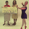 Date:   6/24/98---Judy Holley, Target team relations, left, presents a check on behalf of Target to Longview Ballet Theatre representative, Pat George Mitchell, artistic director of the Longview Ballet Theatre and Elizabeth Kelley, apprentice with the Longview Ballet Theatre.  Jessica Williamson