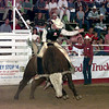 Date:   6/12/98---James Newbury of Abilene TX rides during the bull riding competition at the Gladewater Round Up Rodeo. kevin rgeen