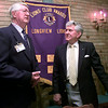 Date:   6/11/98---H. L. Ashcroft, left, the Lions Club 97-98 pres visits with Dr. Morgan L. Willieford the 98-99 new pres during the Liuons meeting at Johnny Cace's Thursday night in longiew. Kevin green